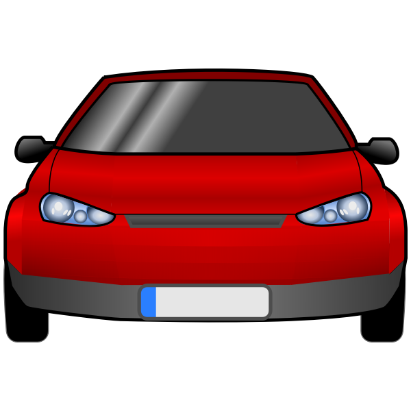 Car front view vector graphics