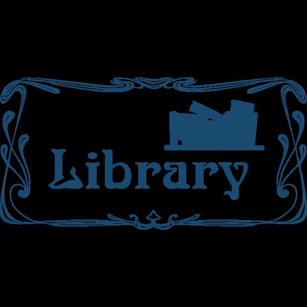 Library door sign