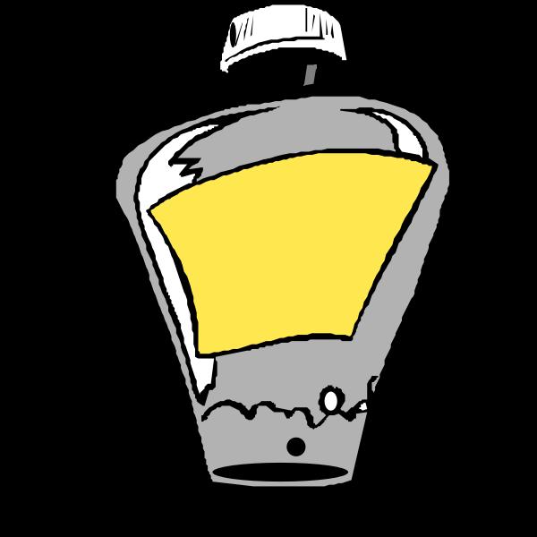 Vector clip art of cartoon perfume bottle