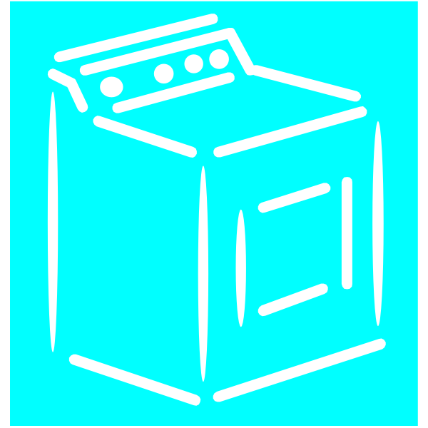 Washing machine - white stroke