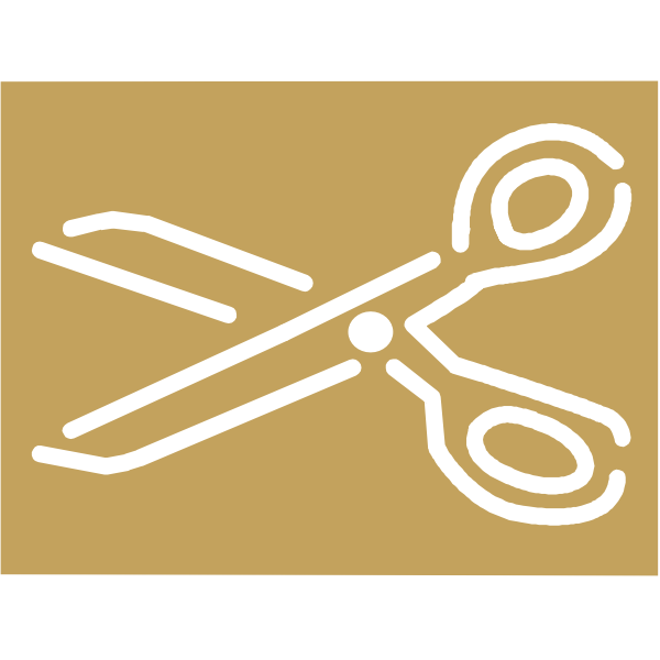 A pair of scissors vector icon