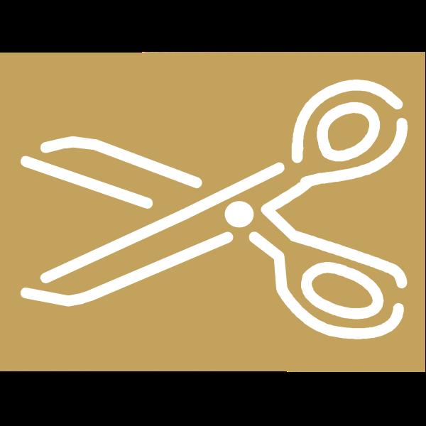 A pair of scissors vector icon