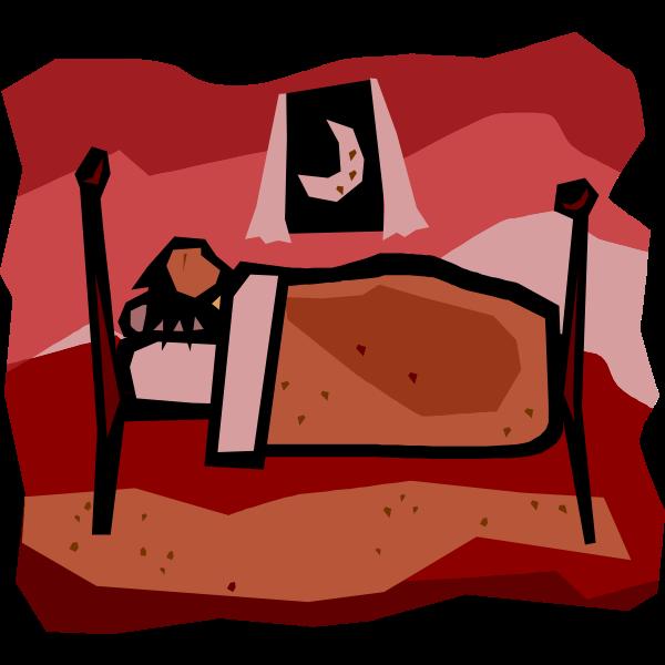 Vector illustration of person sleeping