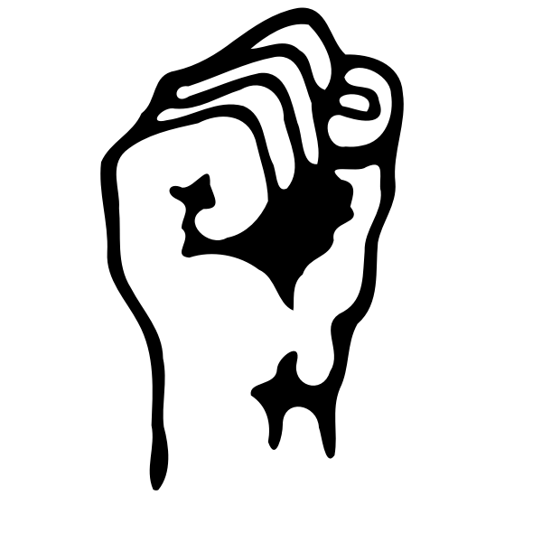 A raised fist vector graphics