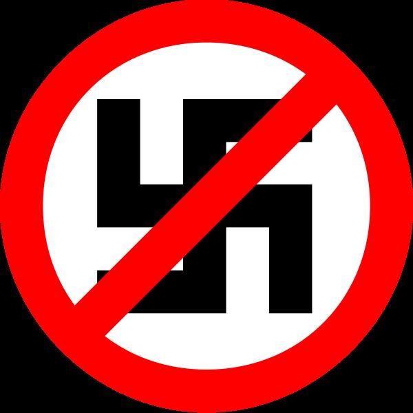 Nazism forbidden vector symbol