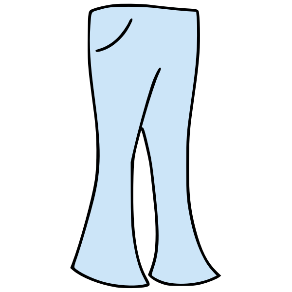 Bell bottoms vector image