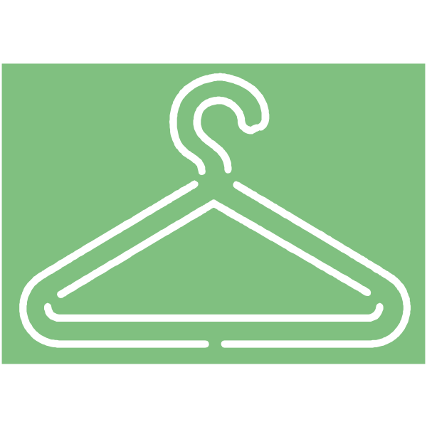 Coat hanger sign vector image