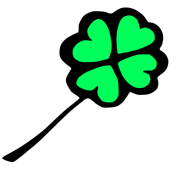 Clover with four leafs vector