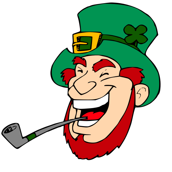 Laughing leprechaun vector image