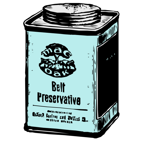 Vector illustration of old can