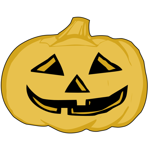 Yellow pumpkin lantern vector illustration