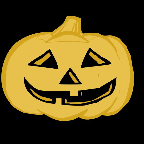 Yellow pumpkin lantern vector illustration