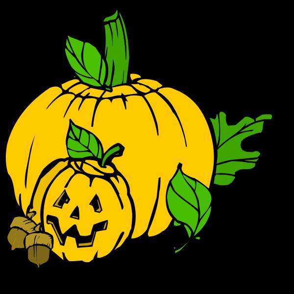 Color Halloween pumpkins vector clip art