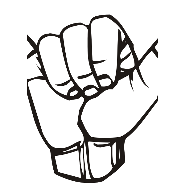 Vector Drawing Of Different Messages In Sign Languages Free Svg