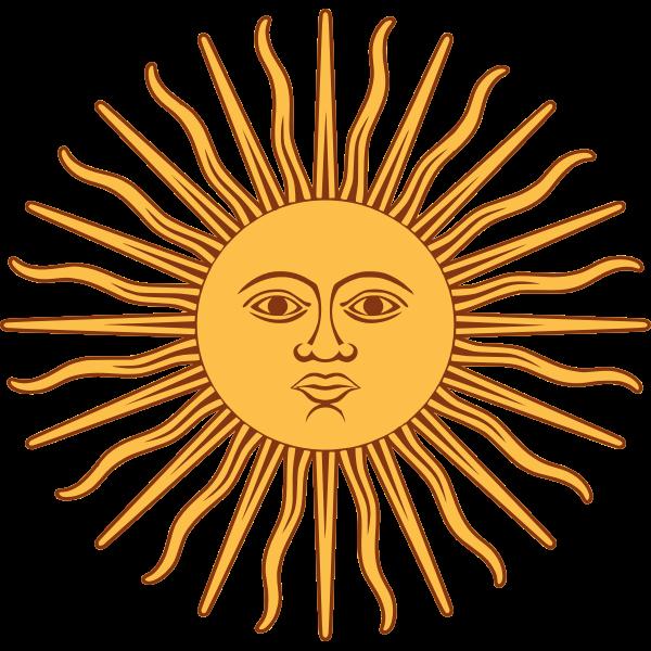 Sun of May vector clip art