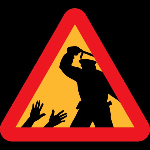 Police brutality vector sign