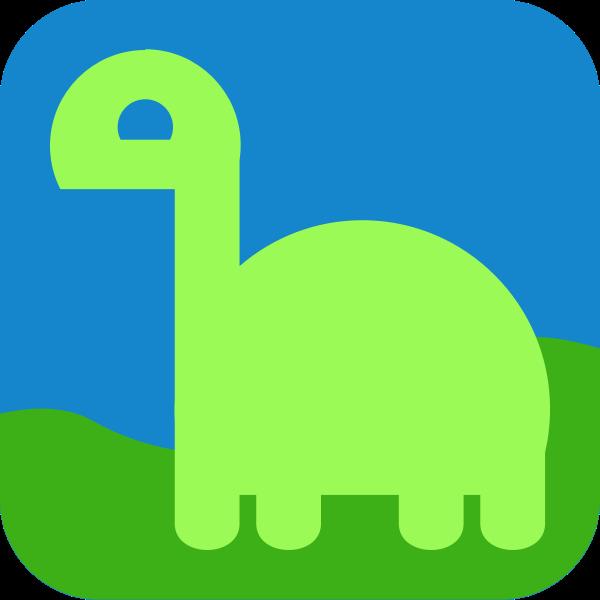 Green dino avatar icon vector illustration