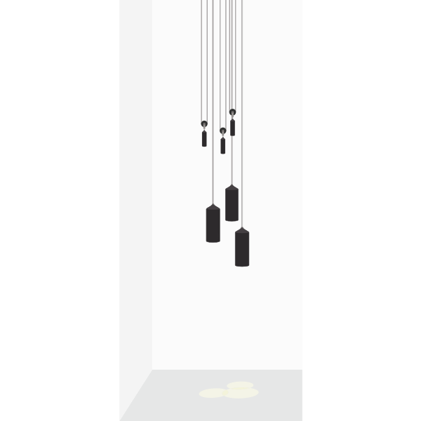 Hanging decorative lights vector clip art