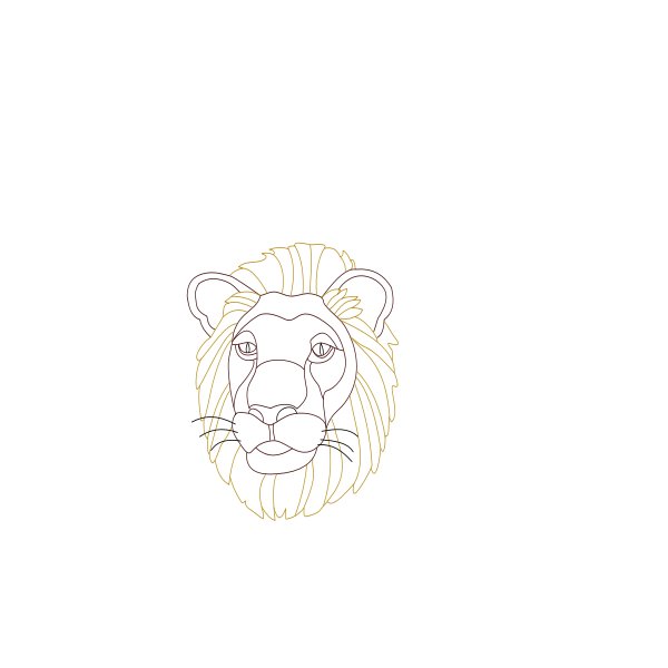Lion's head coloring book  vector image