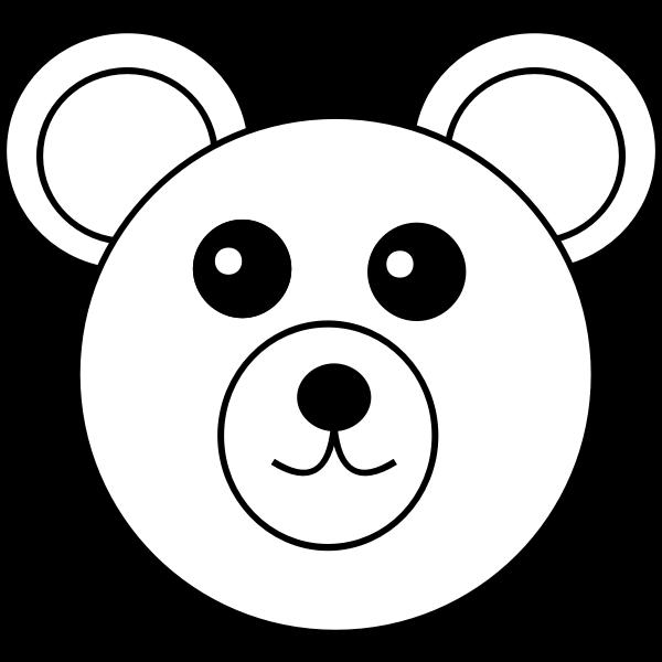 Teddy bear vector line art image