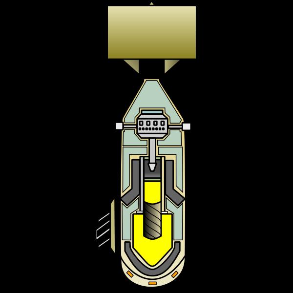 Vector clip art of atomic bomb diagram