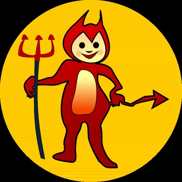 Little devil icon vector clip art