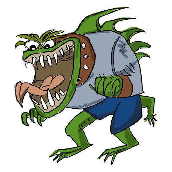 Green monster vector