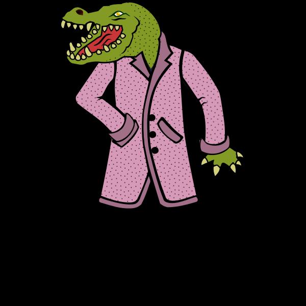 Lizard wearing a coat