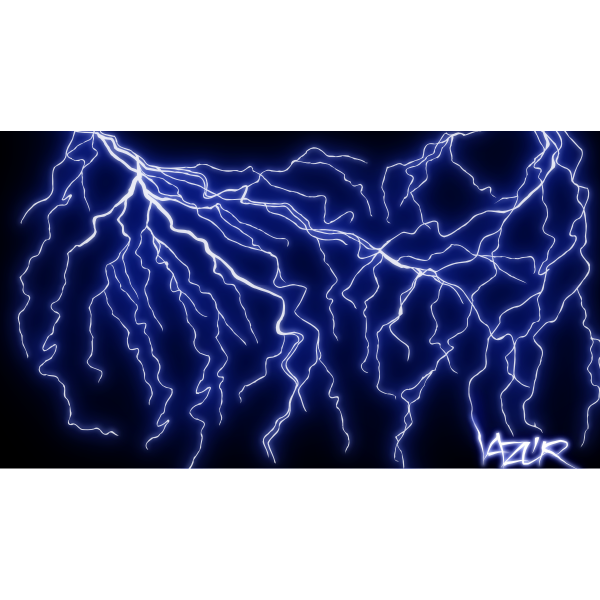 Vector clip art of blue thunder