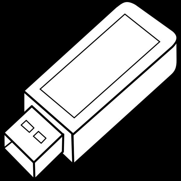USB key outline vector image