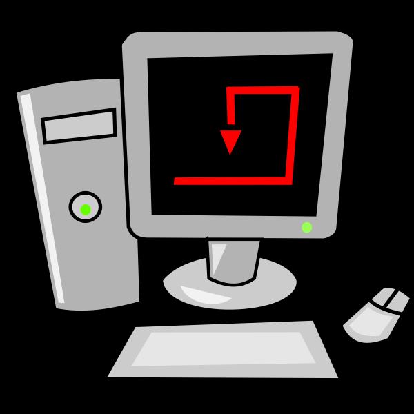 Personal computer icon verctor graphics vector