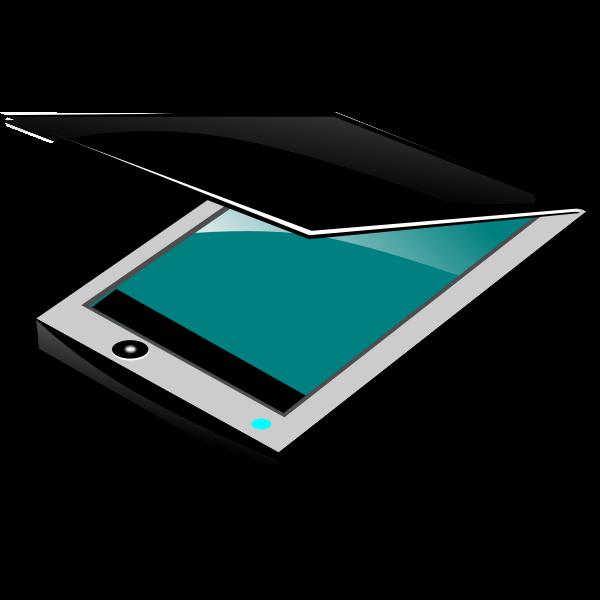 Color flatbed scanner vector clip art