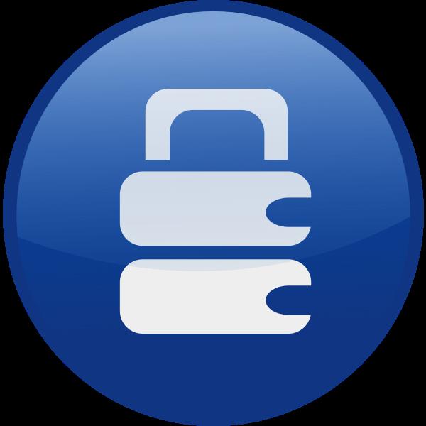 Locked vector icon image