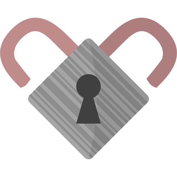 Lock heart vector image