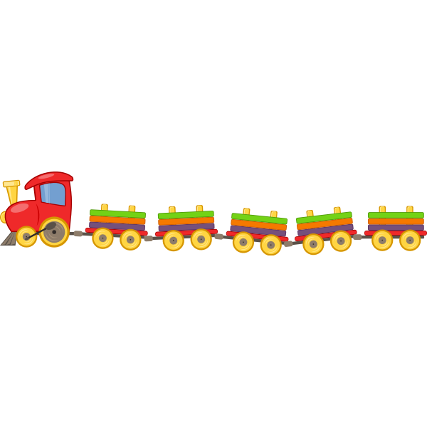 Train with 5 wagons