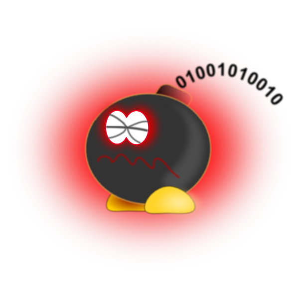 Logic bomb vector image