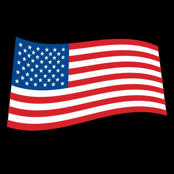 logo USA flag wave