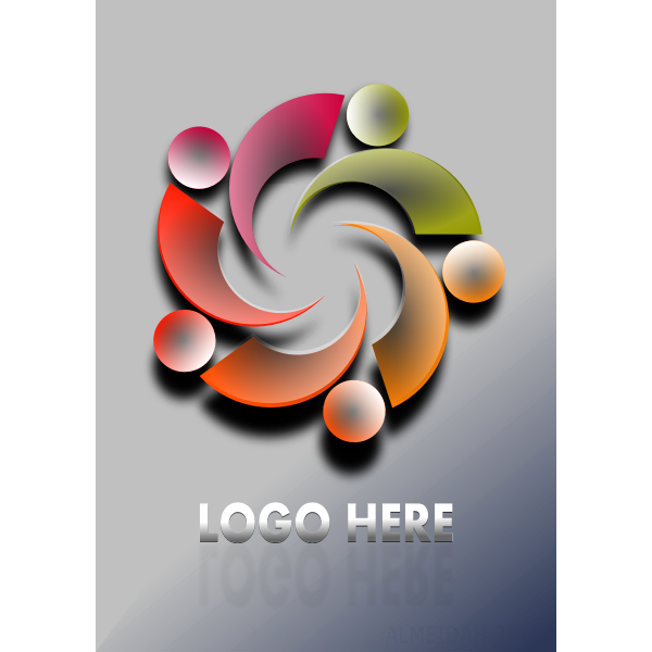 Keyhole sign vector clip art