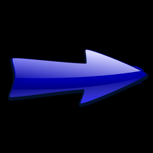 Blue arrow pointing right vector illustration