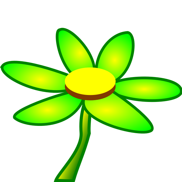 Vector clip art of fresh green flower