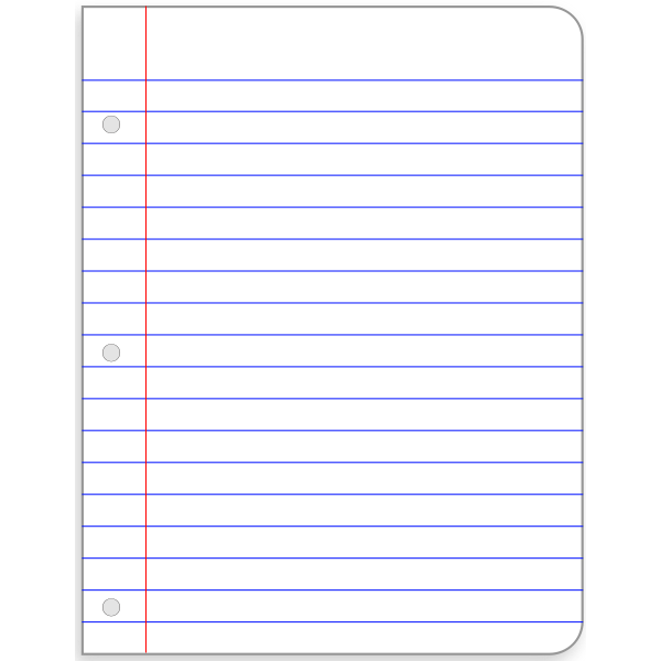 Lined sheet of paper vector image