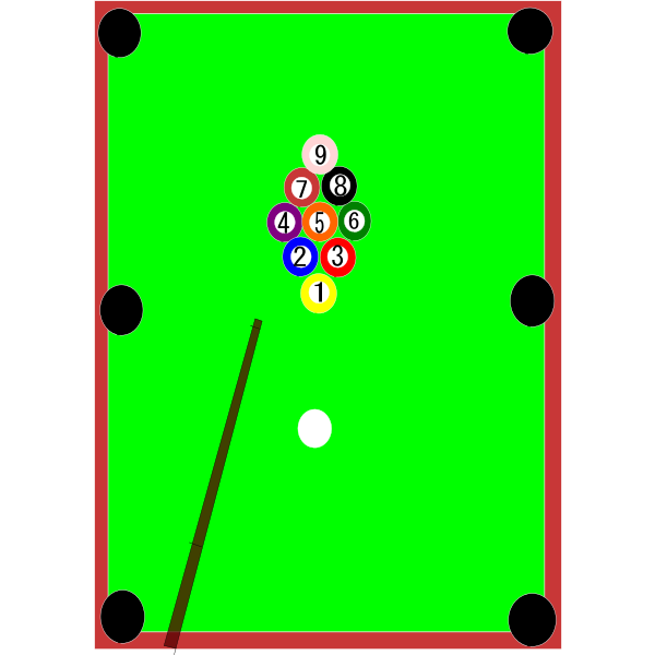 Billiard table vector image