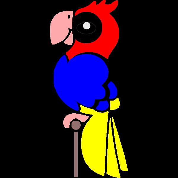 Cartoon image of a macaw