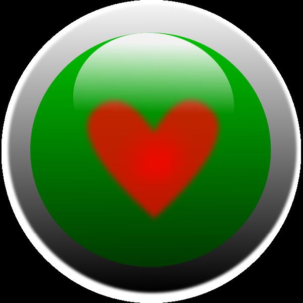 Vector clip art of heart button