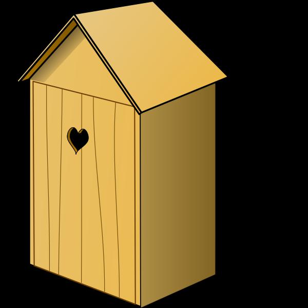 Wood toilet closed vector illustration
