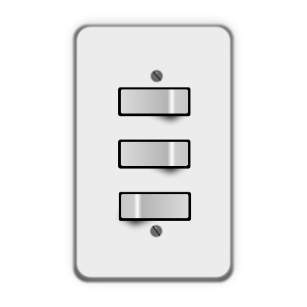 Three electric switches