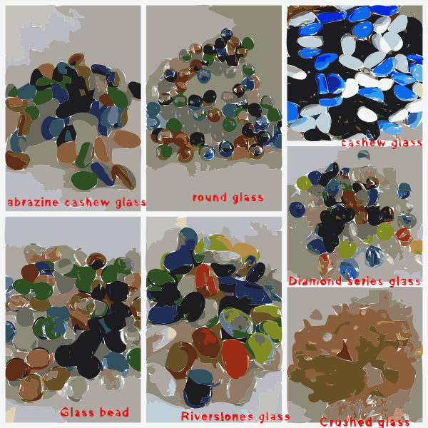 luminous glowing pebble glass pebble stone 1 2017111450