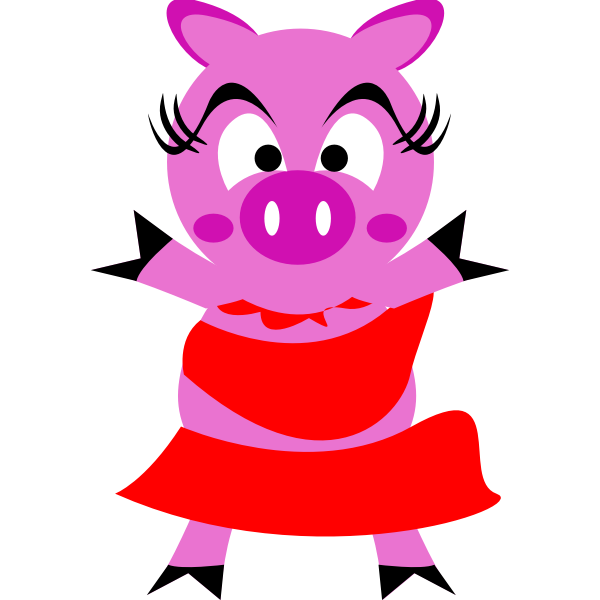 Madame pig vector image