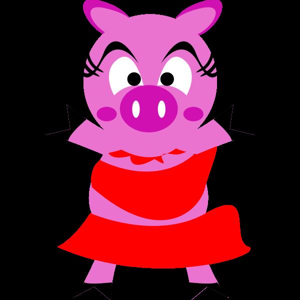 Madame pig vector image
