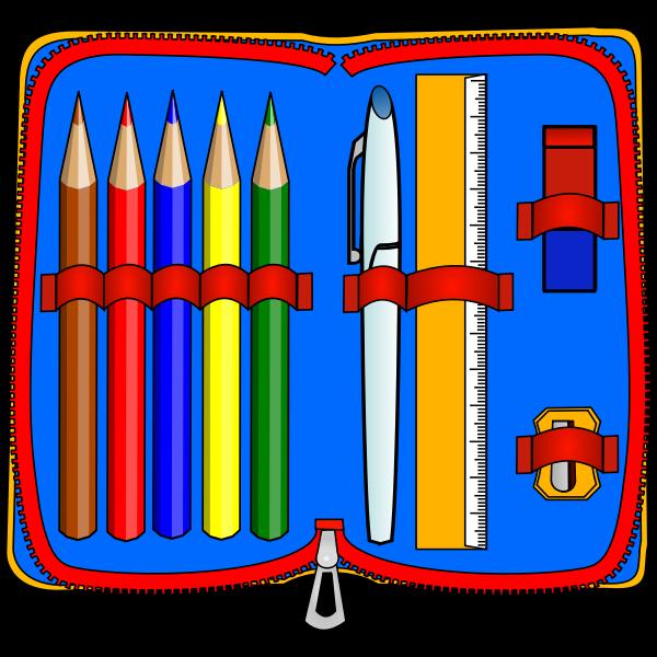 Colorful pencil case